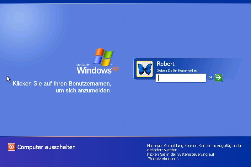 Windows Xp Passwort Vergessen