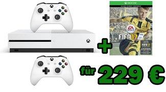 Microsoft Xbox One S im Bundle mit Fifa 17 und 2. Controller für 229 Euro