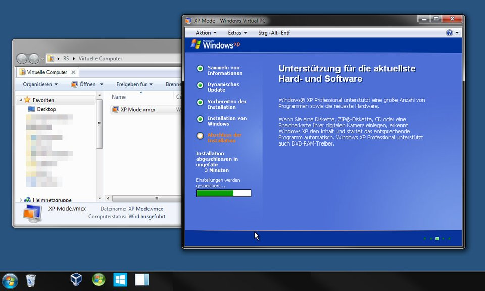 Windows XP wird installiert.