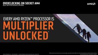 AMD Ryzen: Einfaches Übertakten dank offenem Multiplikator