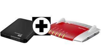 Im Bundle für 198 €: AVM Fritz!Box 7490 & WD Elements 1 TB 2,5 Zoll externe Festplatte