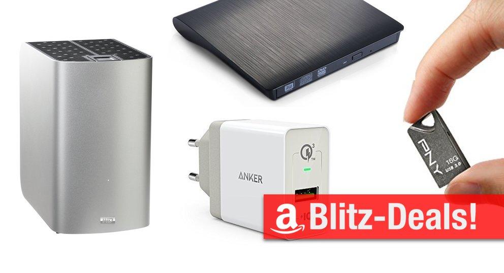 Blitzangebote: USB-C-VGA-Adapter, RAID-System, DVD-Brenner und mehr günstiger