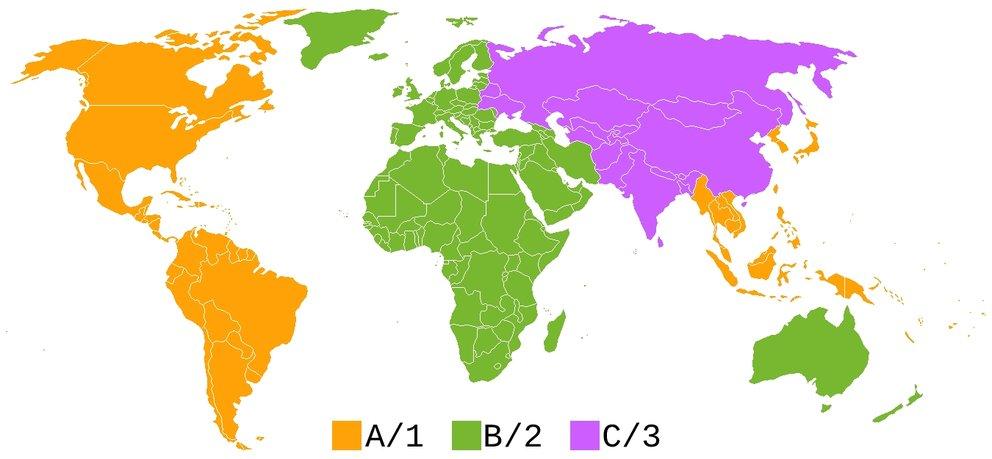 Blu-ray-Regionalcodes Blu-ray Region B