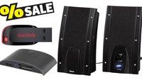 Technik-Sale bei Conrad: PC-Lautsprecher für 3,99 €, 128 GB USB-Stick für 25 €, Kartenleser für 5 € u. v. m.