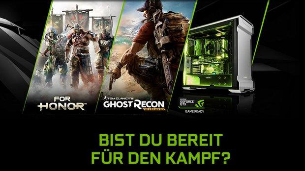 """GeForce GTX 1070 oder GTX 1080 kaufen und """"For Honor"""" oder """"Ghost Recon Wildlands"""" gratis dazu bekommen"""
