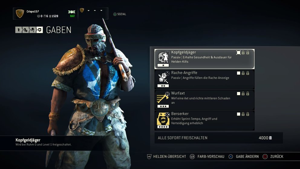 For Honor Berserker Gaben
