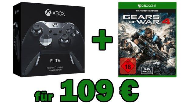 Microsoft Xbox One Elite Controller & Gears of War 4 für zusammen nur 109 €</b>
