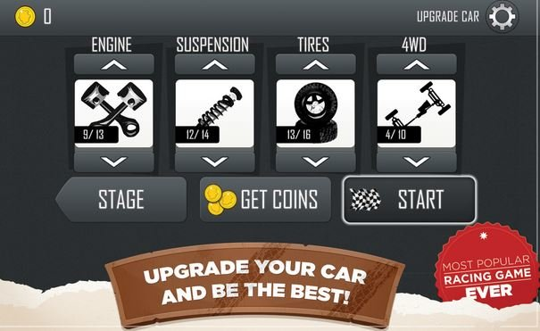 Hill Climb Racing APK Upgrades