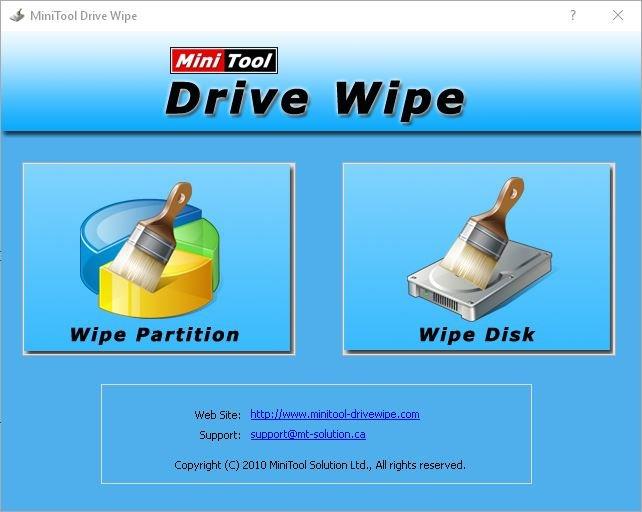 MiniToolDriveWipe