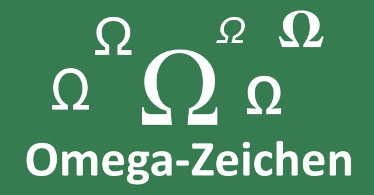 Omega Zeichen Schreiben So Gehts An Pc Und Mac Giga