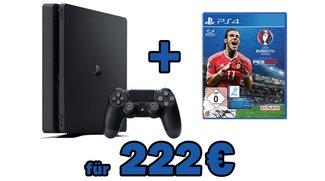 PS4 Slim 500 GB mit UEFA Euro 2016 für 222 Euro