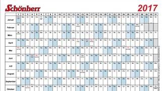 Schönherr Kalender 2017
