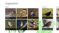 Vogellexikon – App für Windows 10