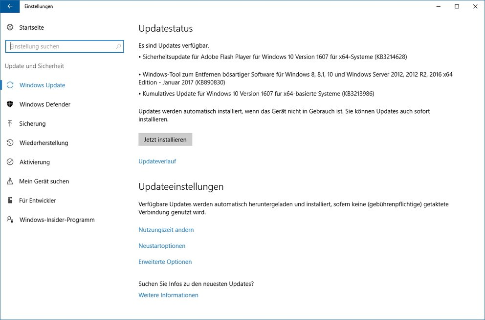 Windows 10 Update KB3213986