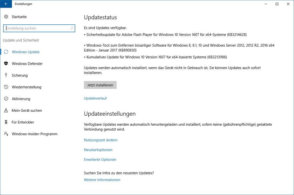 Windows 10 Update KB3213986