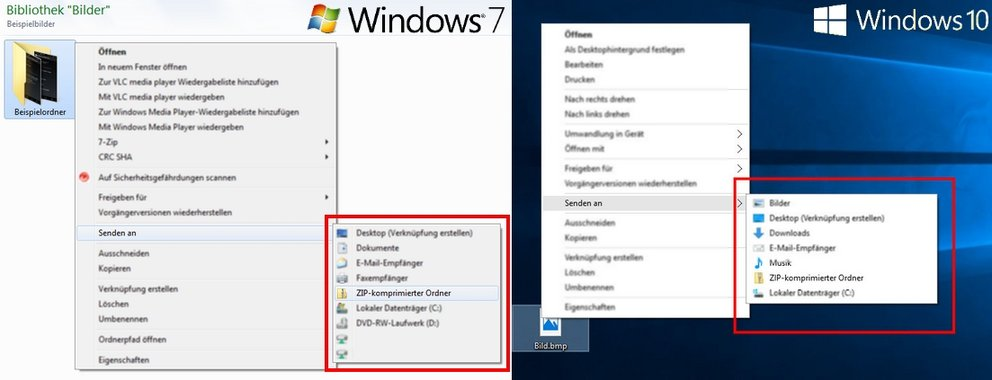Zip-Entpacker Packprogramme Windows 10 und 7