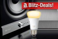 Blitzangebote und Prime Deals: Philips Hue, Raumfeld-Lautsprecher, NAS, Festplatten, WLAN-Thermometer