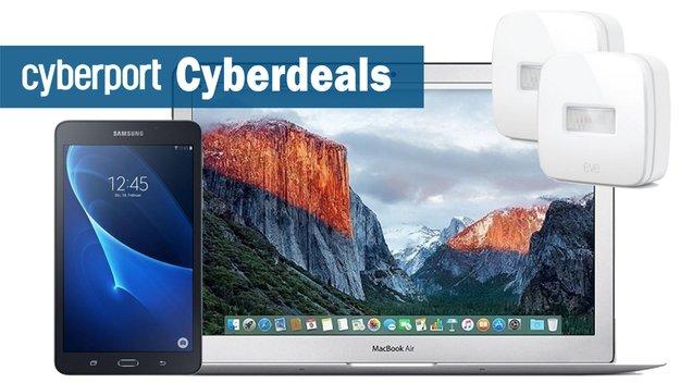 Cyberdeals: Apple MacBook Air i7, Galaxy Tab A 7.0, Elgato Eve Motion u.v.m. stark reduziert