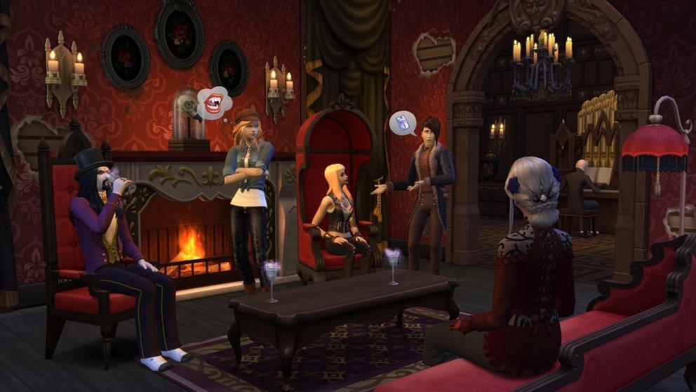 Eure Inneneinrichtung kommt aus einem Zeitalter - so wie euer ewig lebender Vampir-Sim.