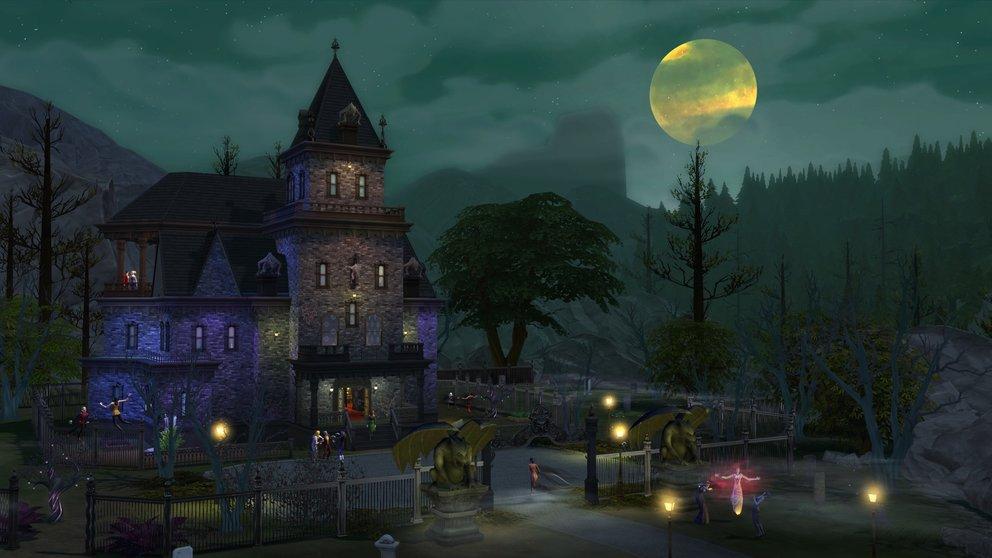 Forgotten Hollow ist düster und neblig - perfekt für einen Vampir, der nach einer Behausung sucht.