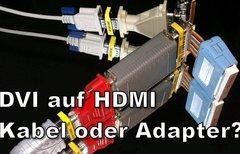 DVI auf HDMI – Verbinden mit...