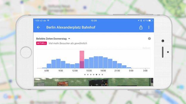 Google Maps für iPhone zeigt Stoßzeiten in Echtzeit an