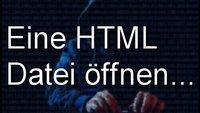 Eine HTML-Datei öffnen – verschiedene Methoden