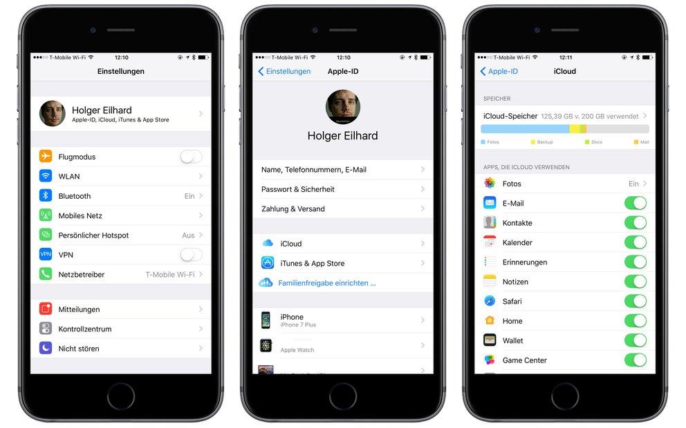 iOS 10.3 Beta 1 Einstellungen