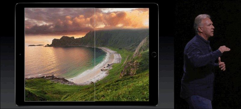 "iPad Pro mit 9,7"" im iPad Pro mit 12,9"""