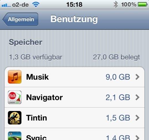 iphone benutzung speicher