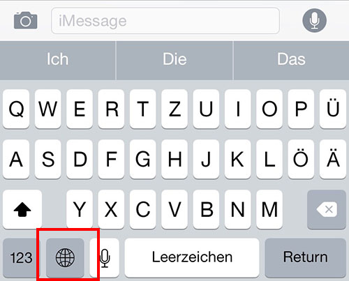 Tastatur Whatsapp