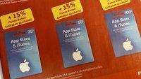 Apple-iTunes-Karten mit Rabatt im Juli 2019: Bonusguthaben online und lokal