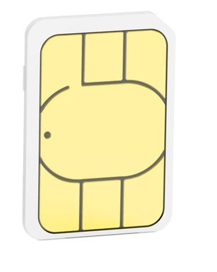 Mini, micro, nano sim cards, 3D rendering isolated on white background
