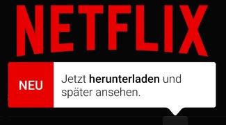 Netflix-App: Update erlaubt Download auf SD-Karte