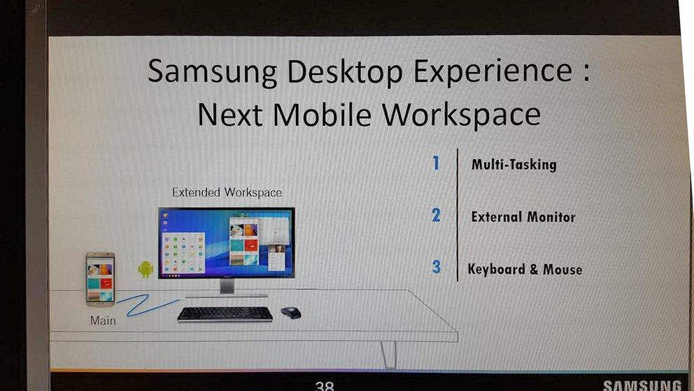 Mittels eines Docks soll sich das Galaxy S8 in einen Mini-PC verwandeln.