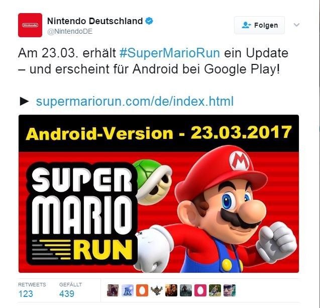 Super Mario Run Realeas Android