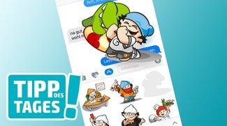 Mini-Tipp: Sticker in iMessage frei positionieren