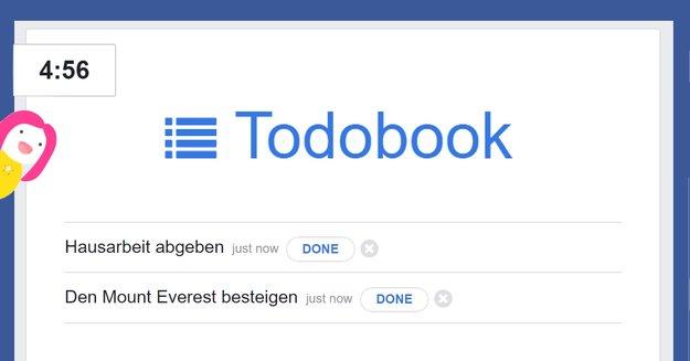ToDoBook: Mit dieser App verschwendest du nie wieder Zeit auf Facebook