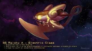 Pokémon im Weltraum: So sehen die kleinen Monster als Raumschiffe aus