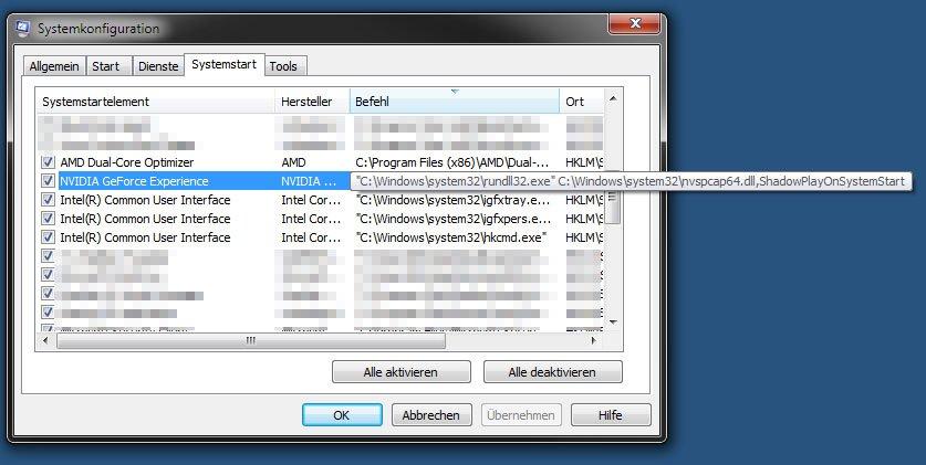 Der Windows Hostprozess rundll32 wird unter anderen auch von Autostart-Programmen genutzt.