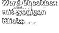 Word: Checkbox einfügen und Checkliste erstellen