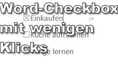 Word: Checkbox einfügen in...