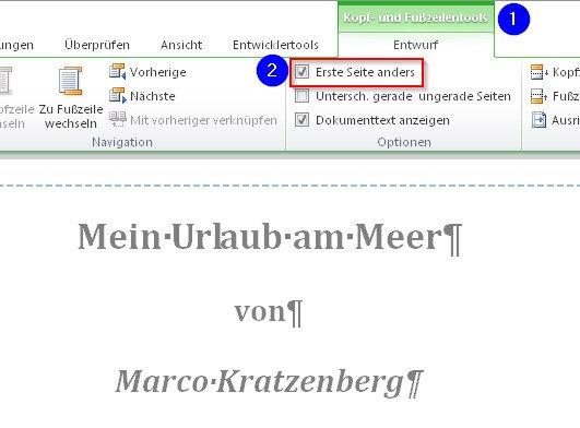 Word Erste Seite Anders Formatieren Giga