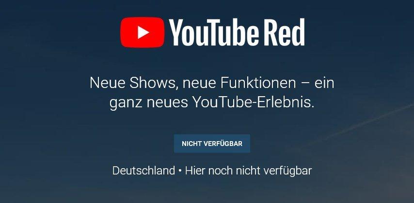youtube-red-nicht-verfuegbar