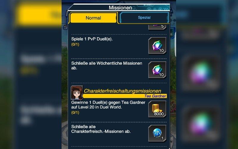 Mit Missionen erhaltet ihr einige Edelsteine für neue Booster Packs.