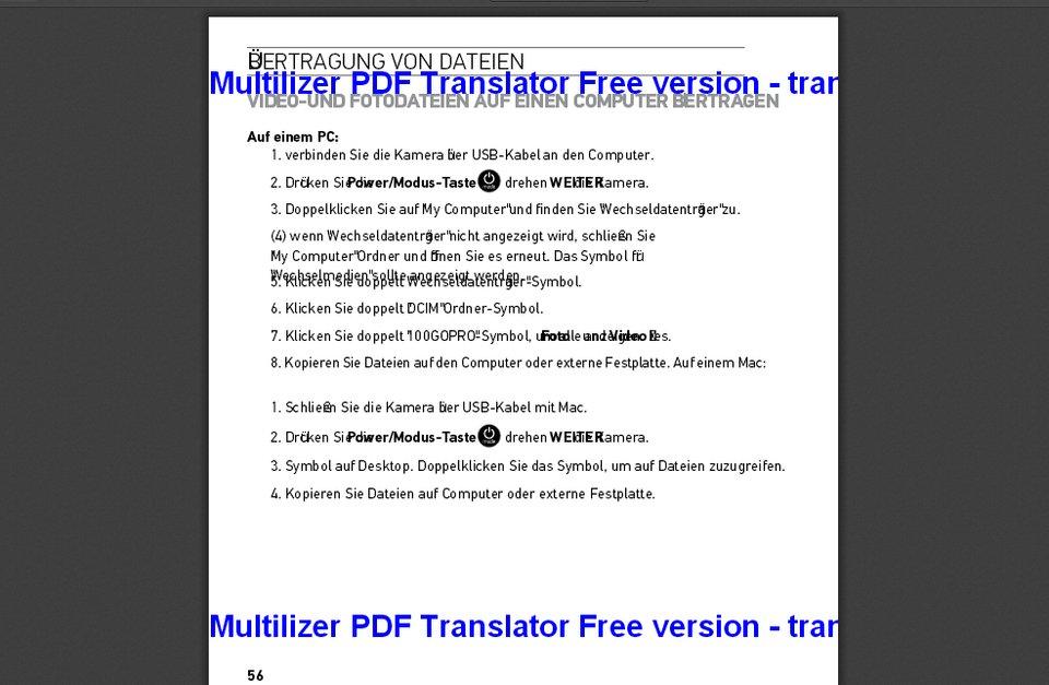 Das Ergebnis ist in Ordnung. Erwartet aber keine perfekte Übersetzung.