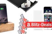 Blitzangebote: Große Akkus, USB-3-Hub, iPhone-Dock und mehr heute günstiger