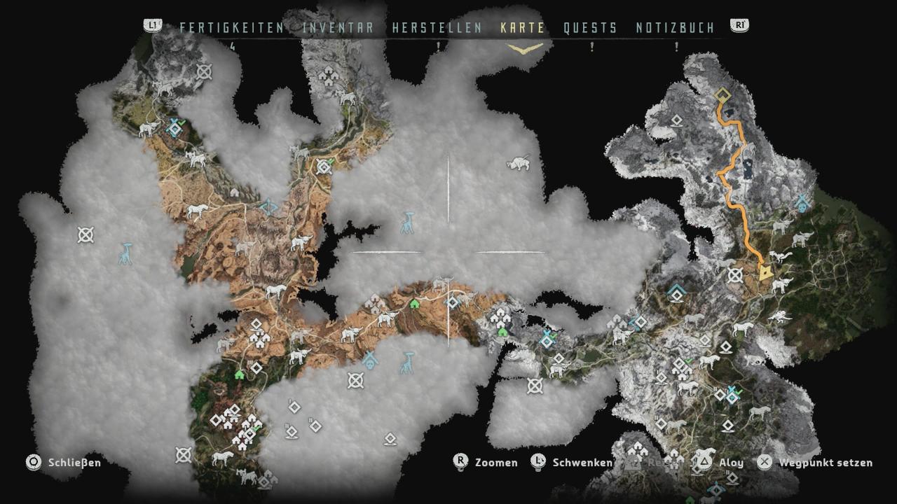 Horizon Zero Dawn Karte Energiezellen.Tempel Der Allmutter Karte Karte