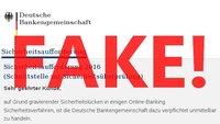 """""""Sicherheitsaufforderung"""" - Deutsche Bankengemeinschaft DBG - Achtung Fake-Mail!"""