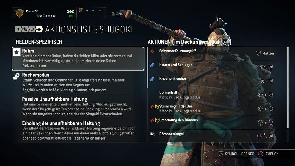 For Honor Shoguki Skills